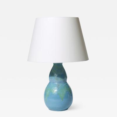 Jean Besnard Table lamp with gourd form by Jean Besnard