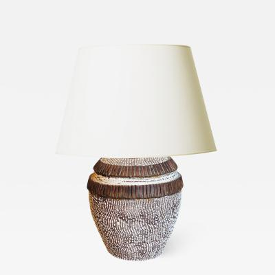 Jean Besnard Textural Table Lamp in the Style of Jean Besnard