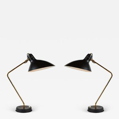 Jean Boris Lacroix Pair of 1950s Boris Lacroix Table Lamps