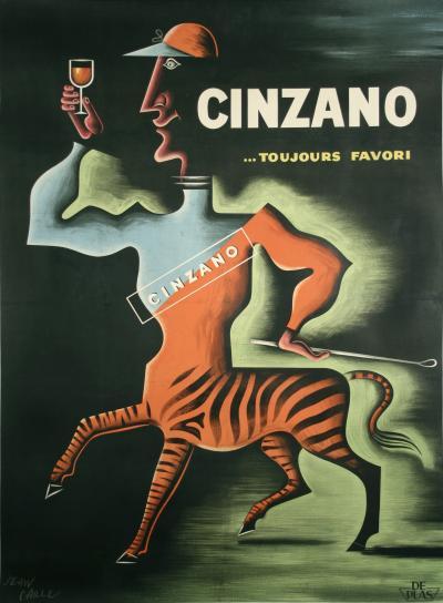Jean Carlu Cinzano a Vintage French Liquor Poster by Jean Carlu 1950
