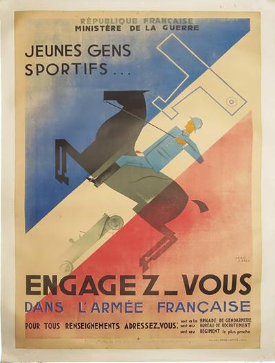 Jean Carlu French Art Deco Poster by Jean Carlu Engagez Vous