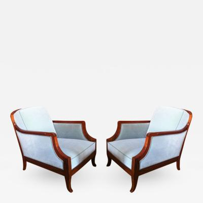 Jean Charles Moreux Jean Charle Moreux Pair of Club Chairs