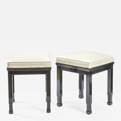 Jean Charles Moreux Jean Charles Moreux style pair of neo classic stools