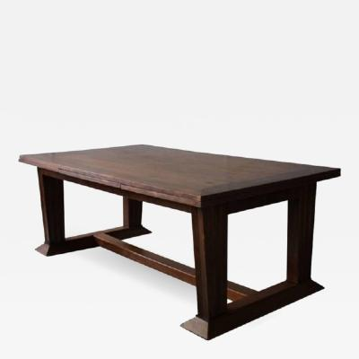 Jean Charles Moreux Rare Fine French Art Deco Walnut Dining Table by Jean Charles Moreux