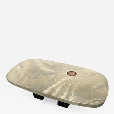 Jean Claude Dresse Rare Acid Etched Coffee Table by Jean Claude Desse