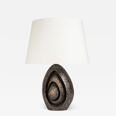Jean Claude Dresse Sculptural Bronze lamp by Jean Claude Dresse