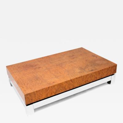 Jean Claude Mahey Burlwood Coffee Table