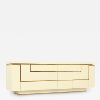 Jean Claude Mahey Lacquered Sideboard by Jean Claude Mahey France 1970s