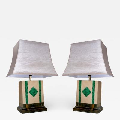Jean Claude Mahey Two 1970s Lamps Signed by Jean Claude Mahey