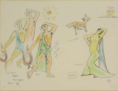 Jean Cocteau Custom Framed Orpheus Lithograph after Jean Cocteau