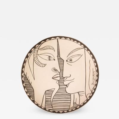 Jean Cocteau Indes Ceramic Plate