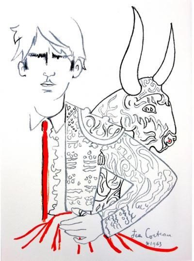 Jean Cocteau Jean Cocteau Bulls Original Lithograph