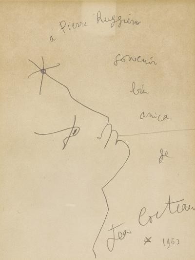 Jean Cocteau Jean Cocteau Drawing circa 1952 France