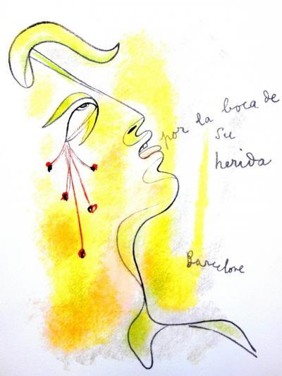 Jean Cocteau Jean Cocteau Profile Original Lithograph