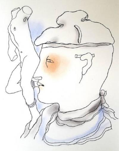 Jean Cocteau Jean Cocteau White Book Original Handcolored Lithograph