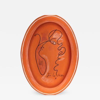 Jean Cocteau La Tristesse dOrphee Ceramic plate