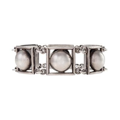 Jean Despres Jean Despr s French Art Deco Silver Link Bracelet