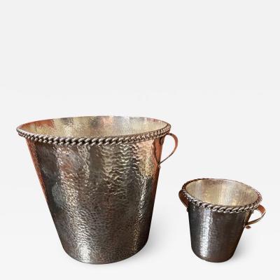 Jean Despres Jean Despres French Silver Metal Champagne and Ice Bucket
