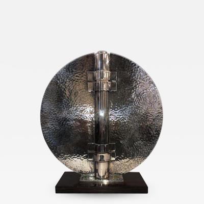 Jean Despres Jean Despres Pair of Silver Plated Vases c 1930s