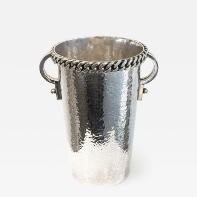 Jean Despres Wine bucket with chain patern by Jean Despr s
