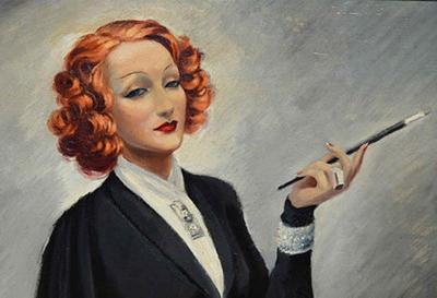 Jean Dominique VanCaulaert Marlene Portrait of Marlene Dietrich