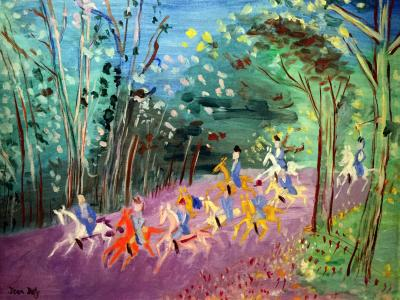 Jean Dufy Chasse a Courre