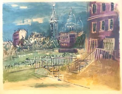 Jean Dufy Montmartre et la Basilique du Sacre Coeur
