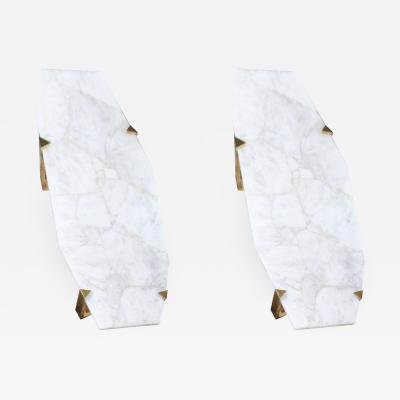 Jean Eves Lanvin Pair of Sconces in Rock Crystal