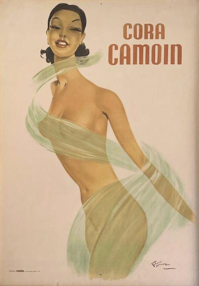 Jean Gabriel Domergue Art Deco Poster titled Cora Camoin