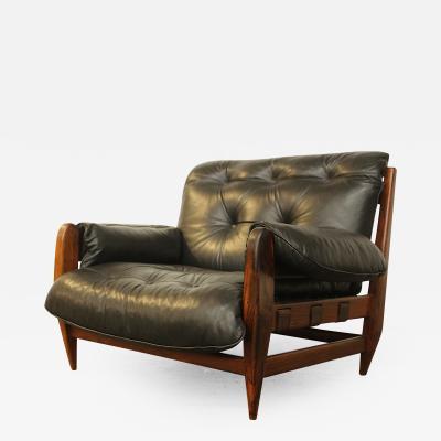 Jean Gillon Lounge Chair by Jean Gillon for Italma Wood Art Brazil 1950s