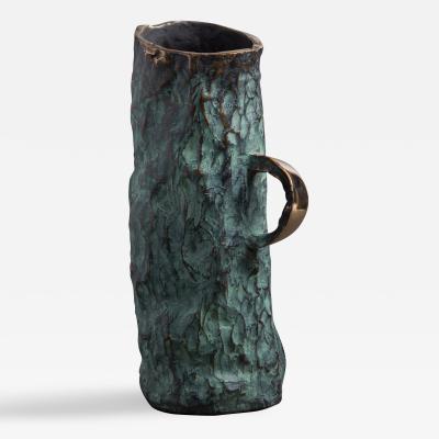 Jean Grisoni Jean Grisoni Bronze Aqua Vase with Handle