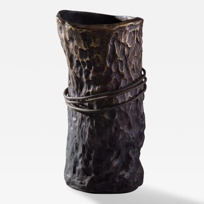 Jean Grisoni Jean Grisoni Pietra Steel Ring Vase
