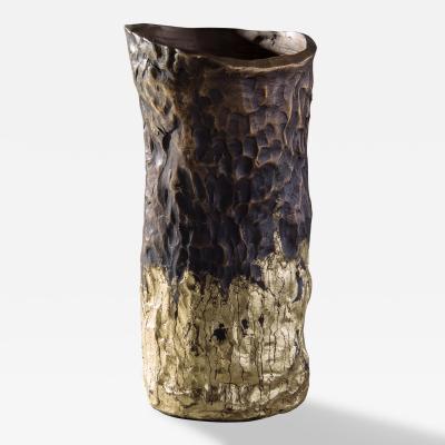 Jean Grisoni Jean Grisoni Pietra White Gold Finish Vase