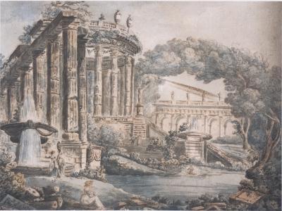 Jean Henri Alexandre Pernet Landscape with Temple