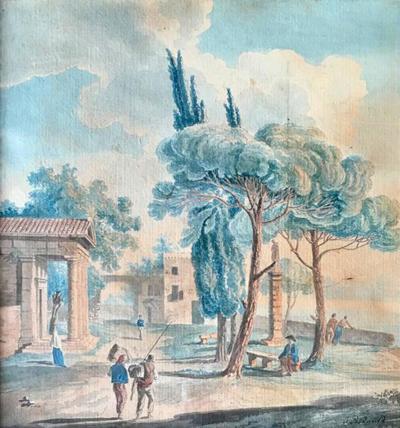 Jean Joseph Xavier Bidauld Pastoral Village Scene By Jean Bidauld 1793