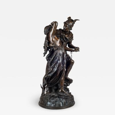 Jean L on Gr goire A Fine Quality Patinated Bronze Sculpture Depicting Perseus Freeing Andromeda