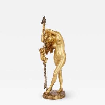 Jean Leon Gerome 19th Century French gilt bronze sculpture of a Baccante by Jean L on G r me