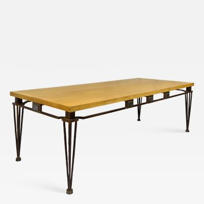 Jean Louis Hurlin Jean Louis Hurlin Hammered Iron Dining Table circa 1980 France