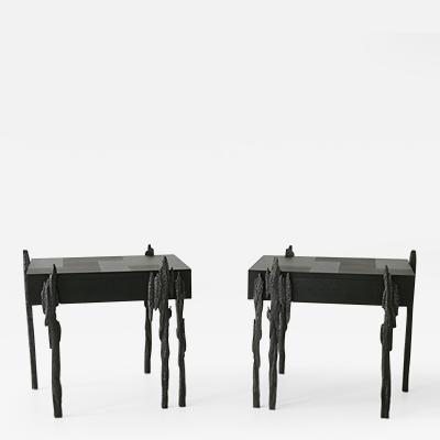 Jean Luc Le Mounier Jean Luc Le Mounier Empreintes Side Table Pair FR 2018