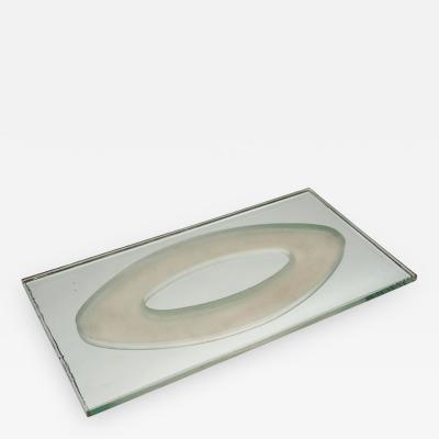 Jean Luce French Art Deco Etched Mirrored Tray by Jean Luce 1895 1964