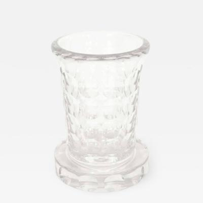 Jean Luce Rare and Refined Art Deco Crystal Vase by Jean Luce French circa 1930