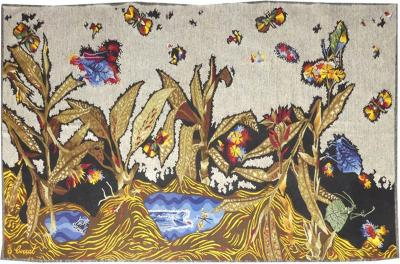 Jean Lurc at Jean Lur at Sublime Tapestry Le ruisseau cossais Signed by the Artist
