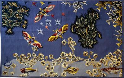 Jean Lurcat Aubusson Tapestry by Jean Lur at Moth Woven in the TABARD Workshop