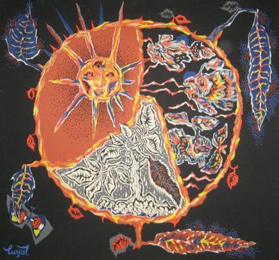 Jean Lurcat Framed Jean Lurcat Silkscreen Tapestry