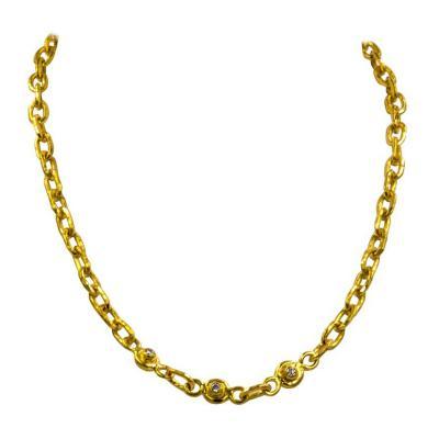 Jean Mahie Jean Mahie Diamond and Sapphire Small Cadene Necklace