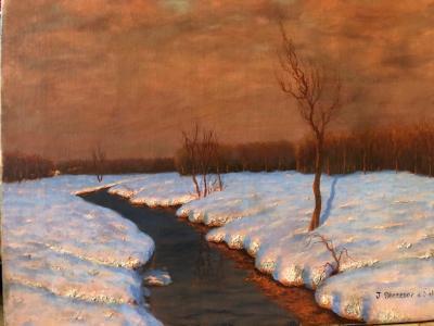 Jean Mercier Delatouch Snowy Landscape