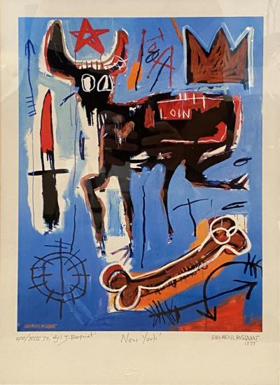 Jean Michel Basquiat Americn Abstract Expressionist Lithograph Untitled Xl Jean michel Basquiat