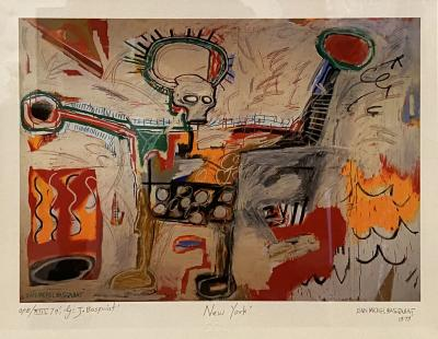 Jean Michel Basquiat Americn Abstract Expressionist Lithograph Untitled Xll Jean Michel Basquiat