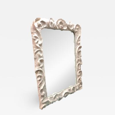 Jean Michel Frank 2 French Mid Century Modern Plaster Mirrors Style Giacometti Jean Michel Frank
