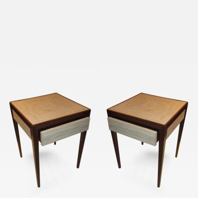 Jean Michel Frank A Pair of Shagreen Top Tables